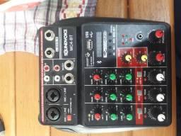 Interface de áudio USB com mesa de som integrada