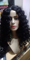 Lace wig cacheado de cabelo orgânico 45 cm