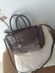 Bolsa, calçado e roupas