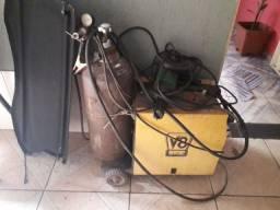 Maquina de solda Mig com gás e cilindro