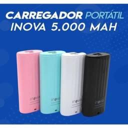 Bateria portátil turbo Powerbank 5000mAh - Inova - lacrada 12x cartão