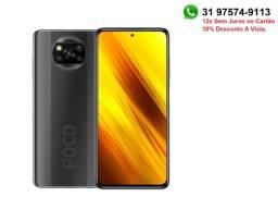 Celular, Smartphone Xiaomi Poco X3 Nfc 6gb 128gb , Cinza, Versão Global.12x S/Juros