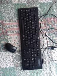 Vendo teclado +mouse HP