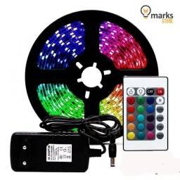 Fita Led RGB Colorida 5MT c/ Controle e Fonte