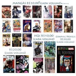 Mangás, Hqs e Graphic Novel - A pártir de 10,00