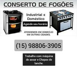 Conserto de fogão residencial e industrial