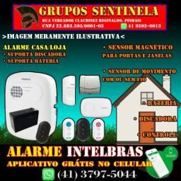 Kit Alarme Intelbras instalado APP grátis no celular