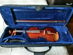 Violino Eagle 4/4 envernizado + Estojo + Arco Crina + Espaleira