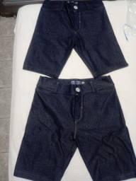 Bermuda estilo jeans com elastano