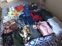 Lote de roupas femininas novas e semi novas
