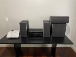 Sistema Home Theater - Yamaha/Polkaudio