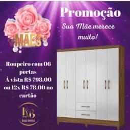 Promoção Roupeiro Casal 6 Portas