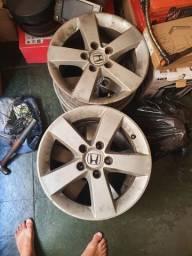 Jogo de rodas honda Civic aro 16 furacão 5x114,3