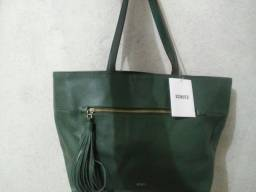 Bolsa tote grande thaisa verde