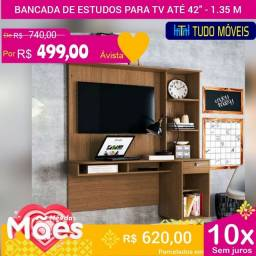 """PROMOÇÃO DAS MÃES / BANCADA DE ESTUDOS C/ PAINEL PARA TV ATÉ 42"""""""