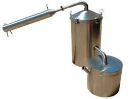 Micro Destilador em aço inox - Extrator óleos essenciais