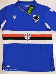 Camisa Sampdoria Home Macron 20/21 - Tamanho: G