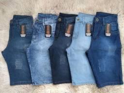 Kit 3 Bermuda Jeans Masculina