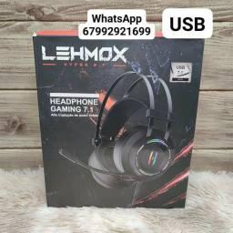 Fone headset gamer 7.1 USB Lehmox hyper GT