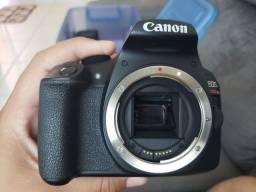 Câmera Canon T6 + Lente 18-55mm + Lente 55-250mm + Lente 24mm