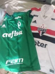 Camisas do São Paulo e Palmeiras