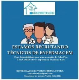 VAGAS PRA TÉCNICAS DE ENFERMAGEM