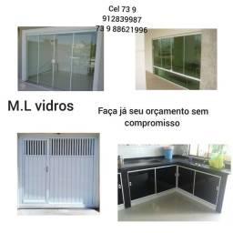 Serviço de vidro temperados e portões de alumínio