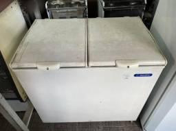 Freezer horizontal de 2 tampas branco metal frio