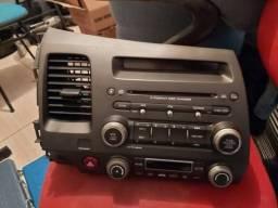Radio/CD Original Honda Civic Si 2007/2012. Leds Vermelhos. LEIA A DESCRIÇÃO.