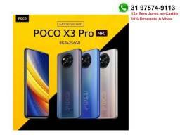 Celular, Smartphone Xiaomi Poco X3 Pro Nfc 8gb 256gb, Versão Global, 12x S/Juros