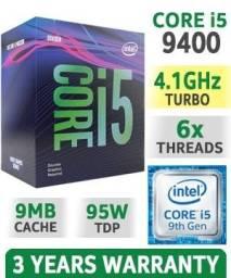 Processador Intel Core i5 9400, Cache 9MB, (4.10GHz Turbo) LGA 1151, Vídeo Integrado