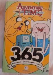 Livro 365 atividades e desenhos para colori - Adventure Time