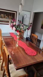 Mesa de Jantar de Mogno Maciço 8 Lugares