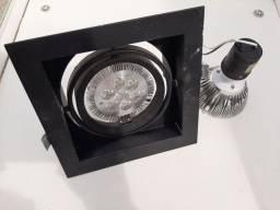 17 luminárias de embutir +12 lâmpadas de led