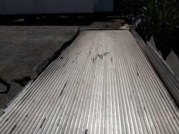 Assoalho Alumino Canaletado 8 x 2,40 metros