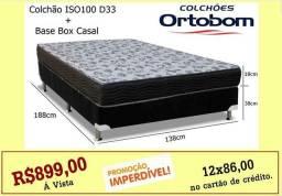 COLCHÃO Casal + Base box.