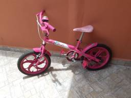 Bicicleta Barbie Aro 16- com rodinhas de apoio para adicionar