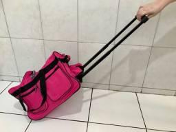 Mala de mão estilo bolsa rosa nova