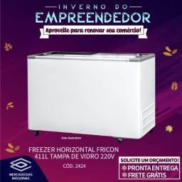 Título do anúncio: Freezer horizontal Fricon 411L tampa de vidro Novo Frete Grátis