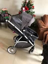 Carrinho de bebê Dzieco Maly + bebê conforto + base carro