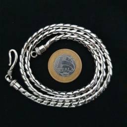 Título do anúncio: Cordão de Prata Bali Corrente Escama de Peixe 925