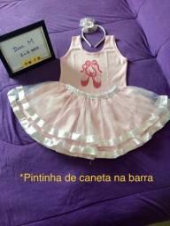 Roupa/fantasia Bailarina - tam.2-4 anos