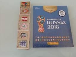 Álbum de figurinhas Completo Copa do Mundo 2018 figurinhas soltas pra colar