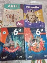 Coleção de livros do SAS 6 ano