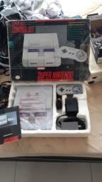 Super Nintendo Fat Completo com caixa, Berço e manual