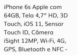 Iphone 6s novo lacrado de 64 gigas