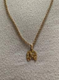 Cordão e pingente de ouro18 1.500