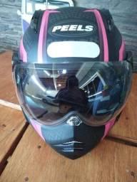 Título do anúncio: Vendo capacete Peels pouco usado. Com viseira de sol.