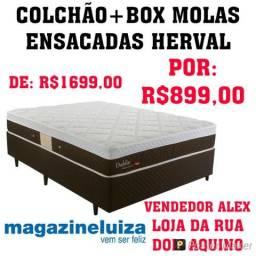 Colchão+Box Casal Molas Ensacadas Herval