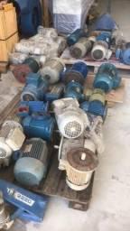Motores elétricos diversos, máquinas Marcenaria e linha Manrod